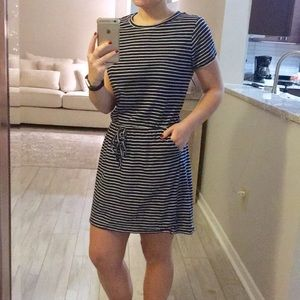 J. Crew Navy & White Striped Dress